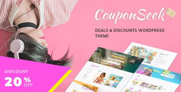 CouponSeek - Deals - Discounts WordPress Theme