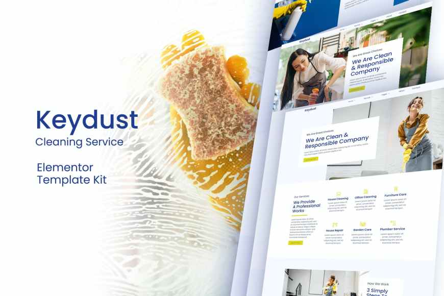 Keydust - Cleaning Service Elementor Template Kit