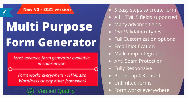 Multi-Purpose Form Generator - docusign (All types of forms) with SaaS