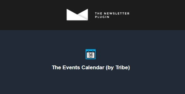 Newsletter The Events Calendar (by Tribe)