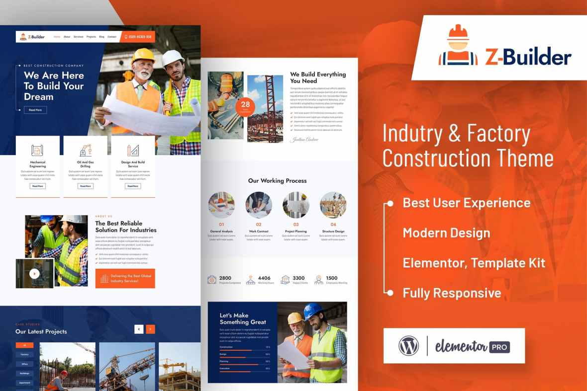 Z-Builder - Construction Elementor Template Kit