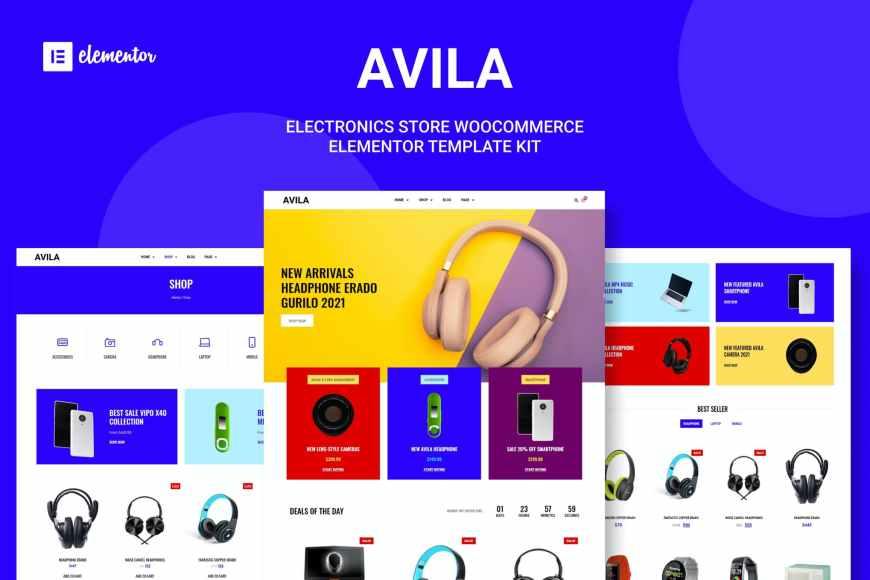 Avila - Electronic WooCommerce Elementor Template Kit