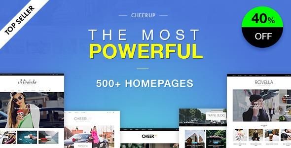 CheerUp Blog Magazine - WordPress Blog Theme