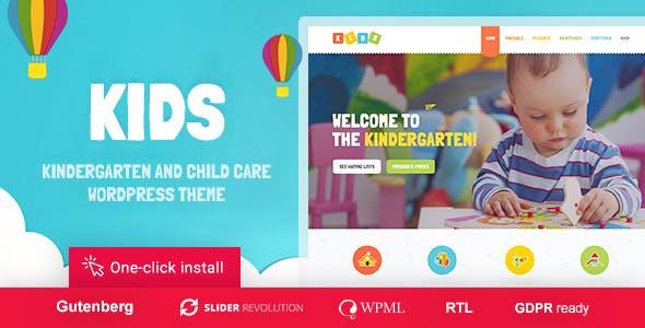 Kids - Day Care - Kindergarten WordPress Theme for Children