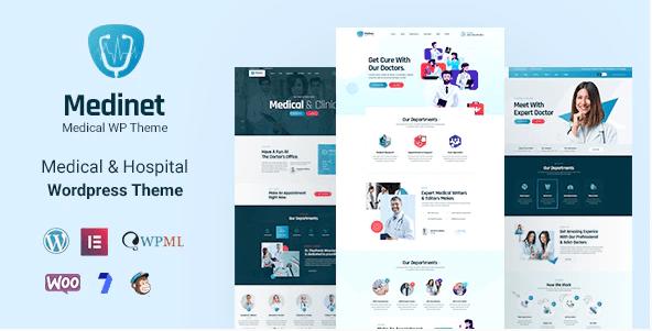 Medinet - Medical and Health WordPress Theme +RTL