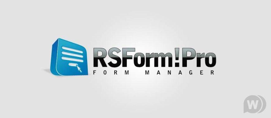RSForm! PRO Create Custom Joomla Forms