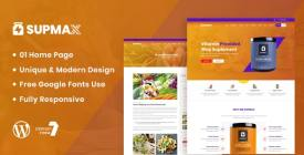 Supmax - Health - Supplement WordPress Theme June