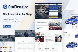 CarDealerz - Auto Dealer - Auto Shop Website Elementor Template Kit