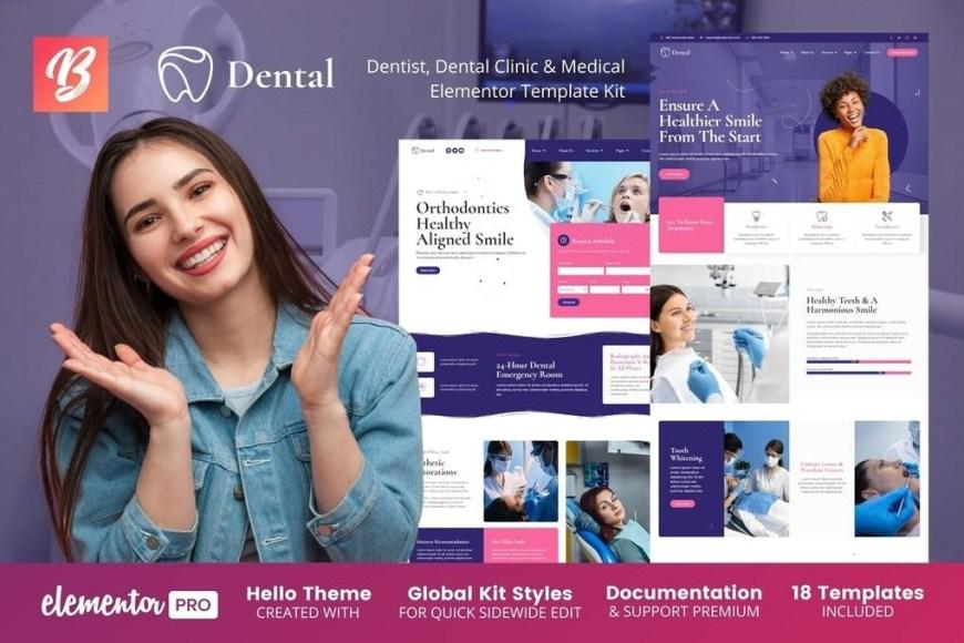 Dental - Dentist Clinic - Medical Elementor Template Kit