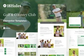Holes - Golf - Country Club Website Elementor Template Kit
