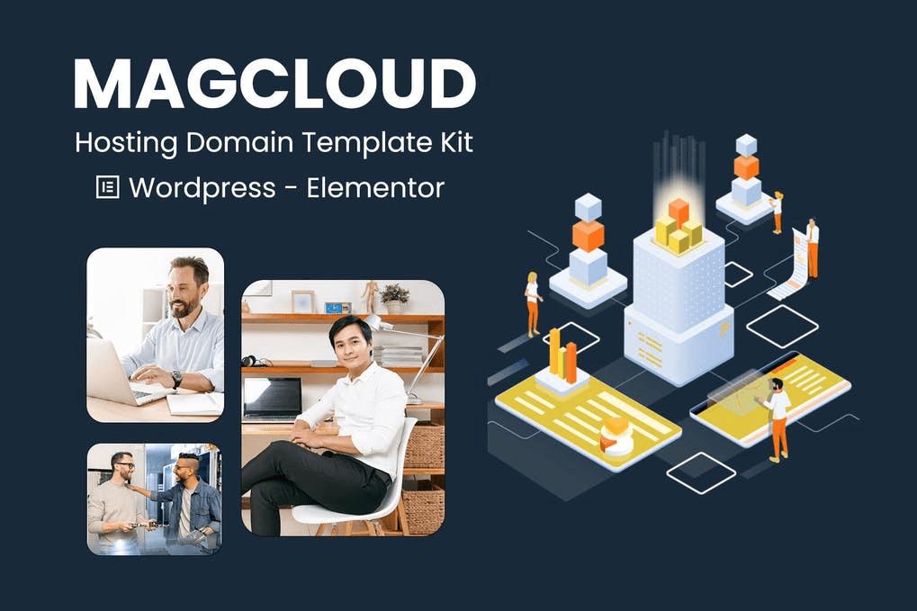 Magcloud - Hosting Domain Elementor Template Kit