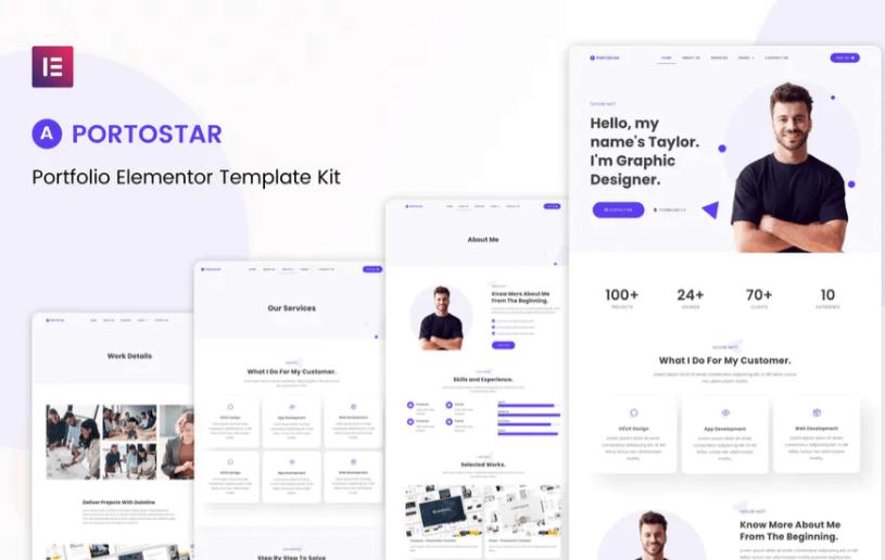Portostar - Personal Portfolio Elementor Template Kit