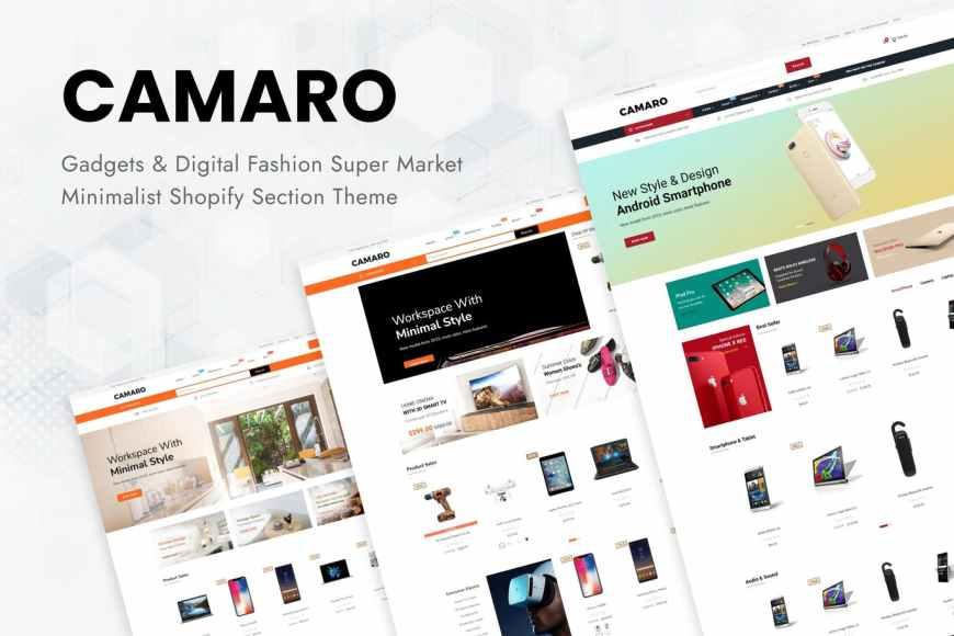 Camaro - Gadgets - Digital Fashion Super Market Minimalist Shopify Section Theme