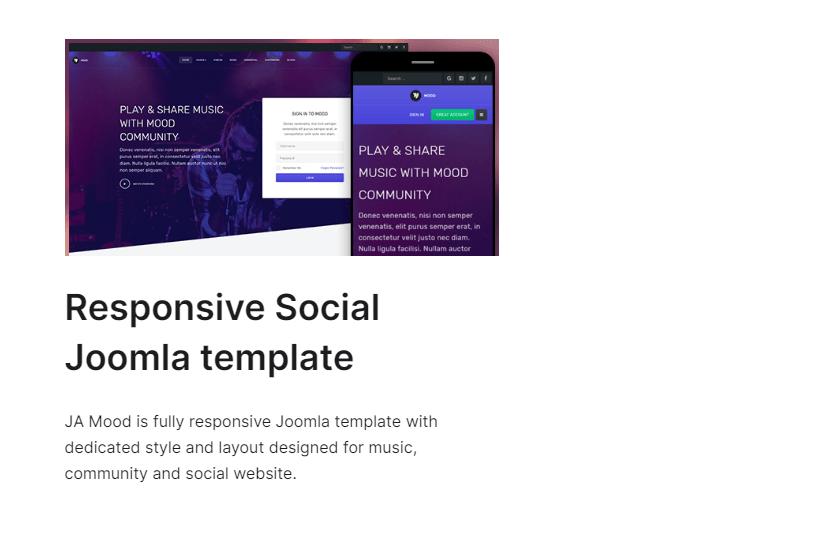 JA Mood - Joomla community template
