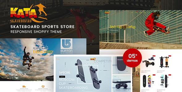 Kata - Skateboard Sports Store Shopify Theme