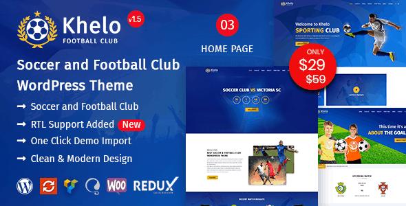 Khelo WordPress Football Theme