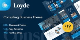 Loyde - Consulting Business WordPress Theme