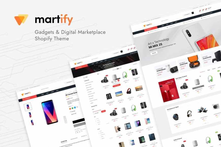 Martify - Gadgets - Digital Marketplace Shopify Theme