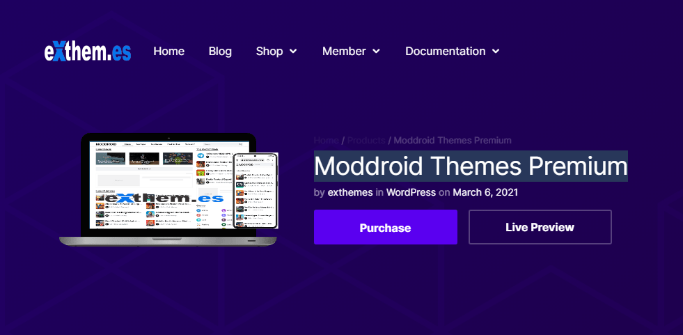 Moddroid - Android Theme For WordPress