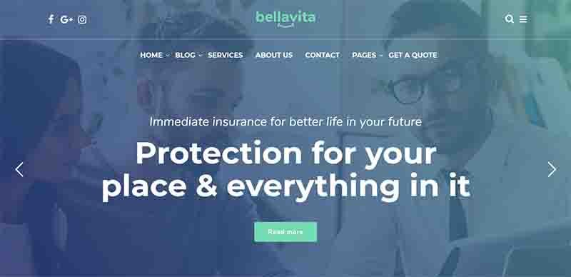 Bellavita – Insurance and Finance WordPress Theme