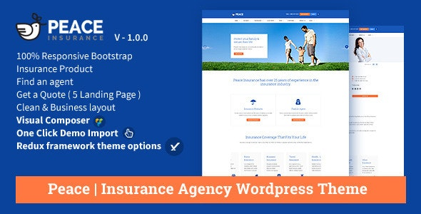 Peace - Insurance Agency WordPress Theme