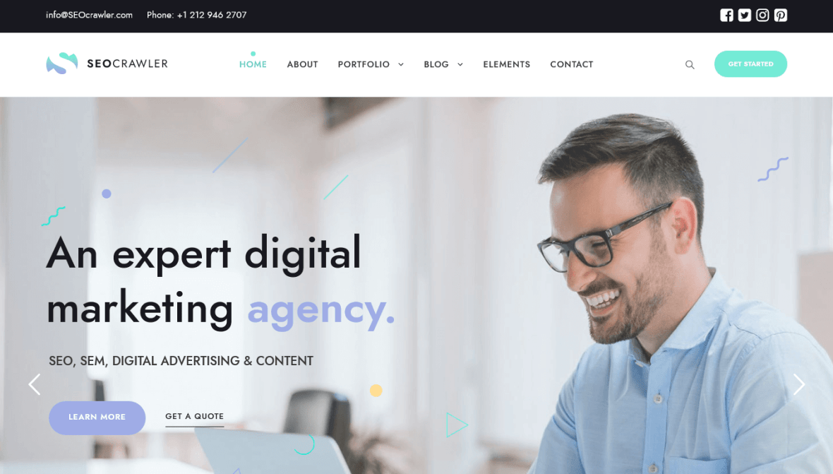 Crawler Marketing Agency Theme