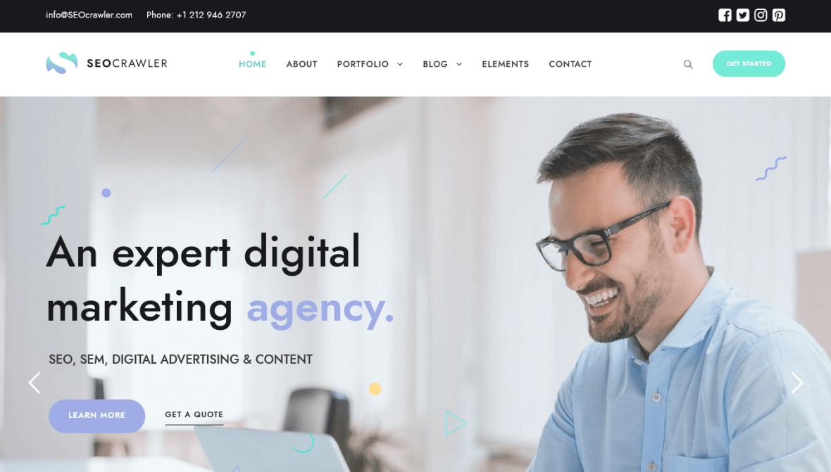 Crawler Marketing Agency Theme