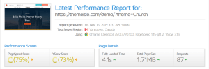 Neva Theme GTmetrix Performance Report C (75%) C (73%)