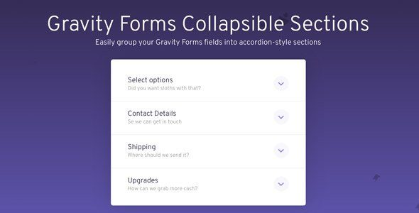 Gravity Forms Collapsible Sections Add-On