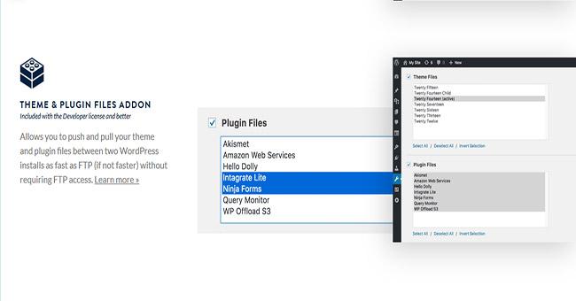 WP Migrate DB Pro Theme & Plugin Files Addon