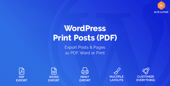 WordPress Print Posts & Pages (PDF)