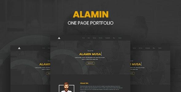Alamin - One Page Portfolio