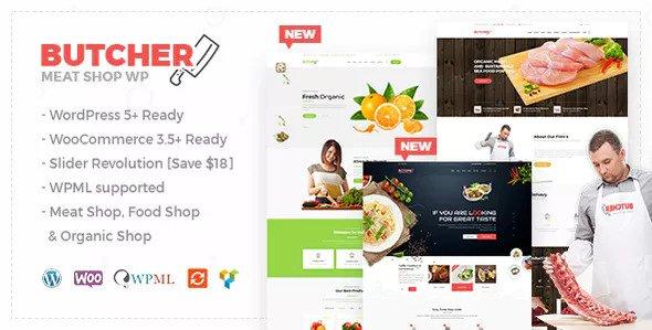 Butcher - Meat, Organic Shop Woocommerce Theme