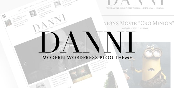 Danni - Minimalist WordPress Blog Theme