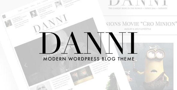 Danni - Minimalist WordPress Blog Theme