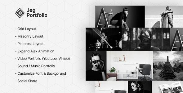 Jeg Portfolio - Responsive Portfolio & Gallery Plugin For WordPress