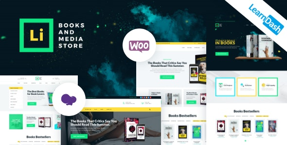 Lorem Ipsum - Books & Media Store WordPress Theme