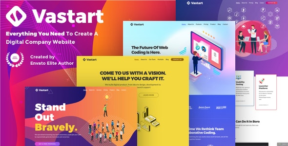 Vastart - Digital Company & Startup WordPress Theme