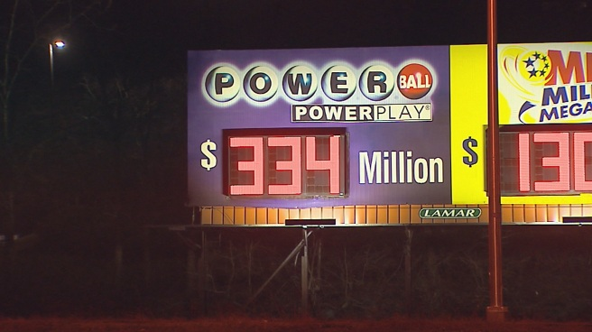 Powerball lottery up to $334 million_240796