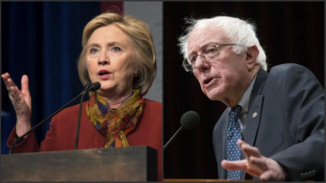 Hillary Clinton and Bernie Sanders_261980