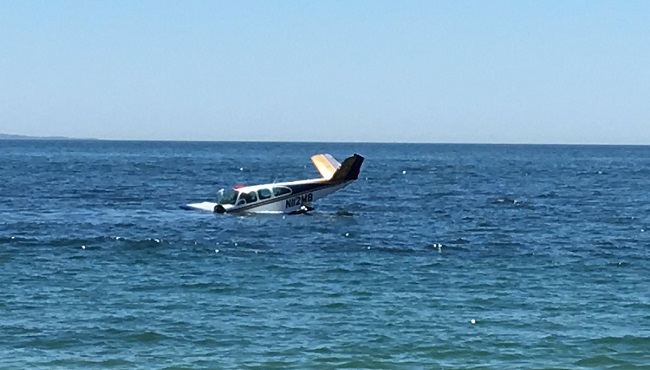 Small plane crashes off Westerly beach