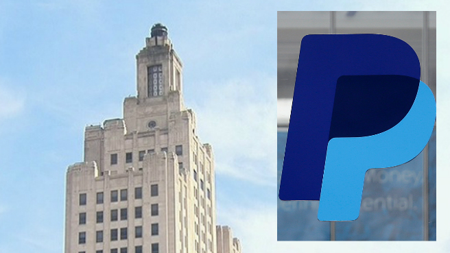 Superman building in Providence and PayPal logo_351719