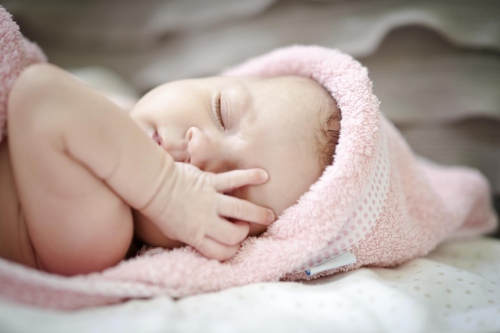 istock generic baby girl pink sleepy_8484