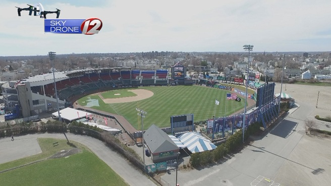 McCoy Stadium from Sky Drone 12_458046