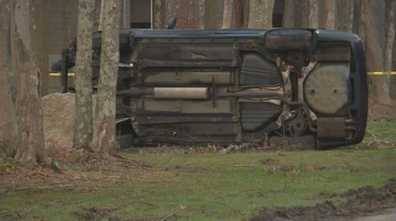 UMass Dartmouth rollover crash