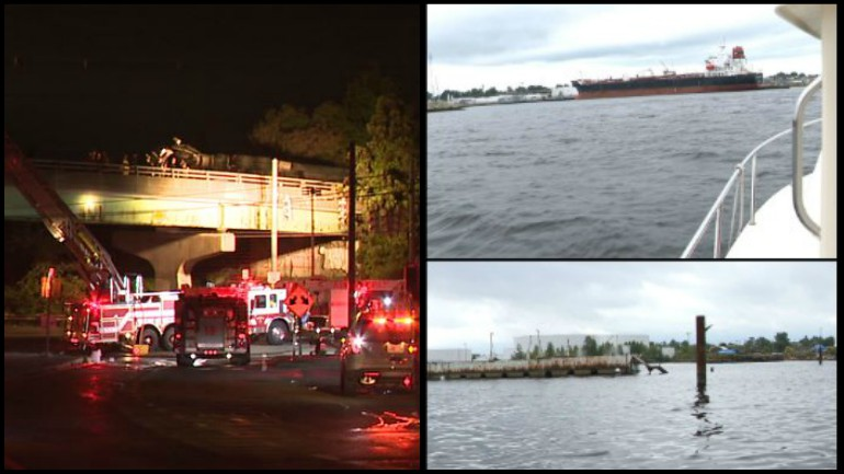 Tanker truck fuel spill causes concerns along Providence River