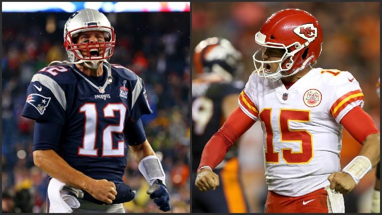 Patriots Tom Brady Chiefs Patrick Mahomes