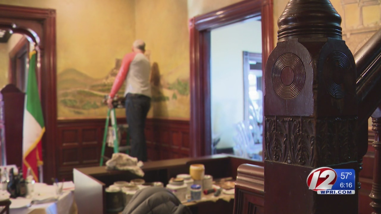 Century old art uncovered on walls of Providence restaurant