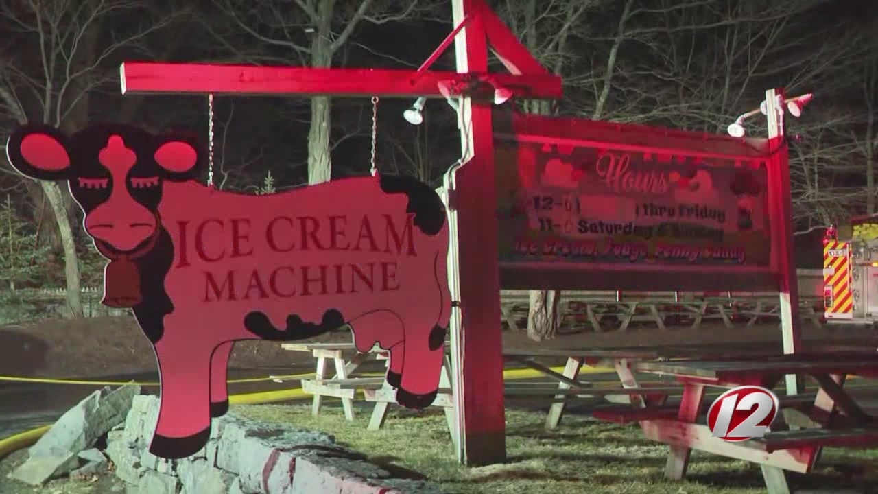 Cumberland ice cream shop assures customers it's 'not burning down'