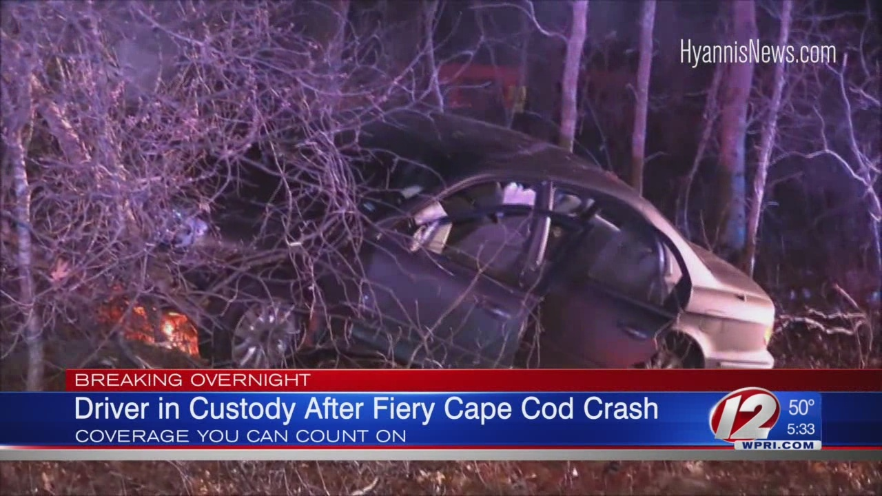 Police: Driver almost crashed into police cruiser head-on, caused fiery crash